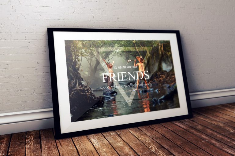 Photoshop Manipülasyon Poster – Friends